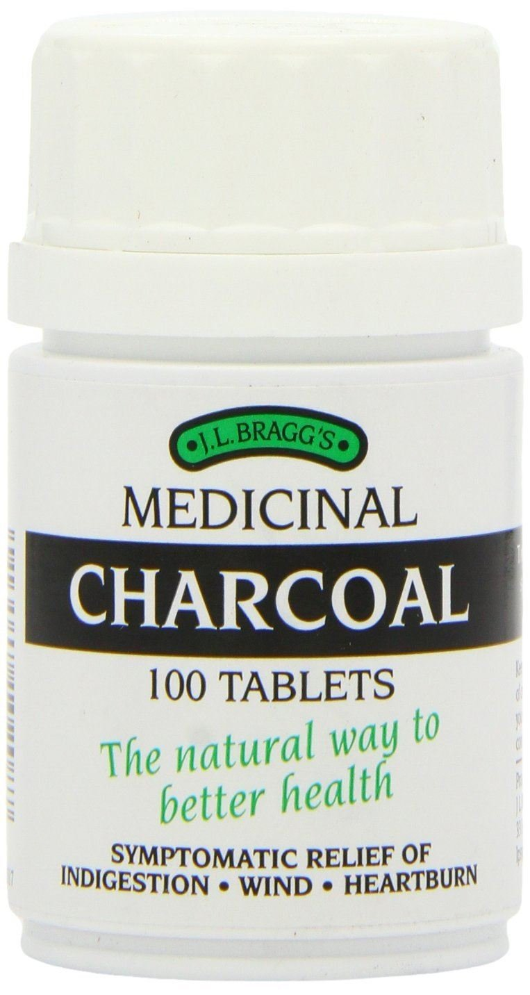 (12 PACK) - Braggs Medicinal Charcoal Tablets | 100s | 12 PACK - SUPER SAVER - SAVE MONEY