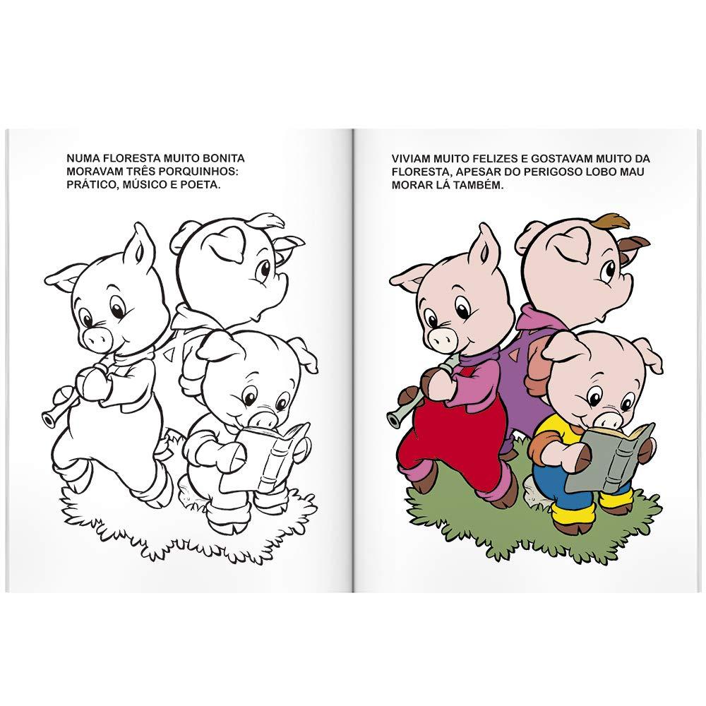 Os Tres Porquinhos Colecao Contos De Fadas Para Colorir Varios