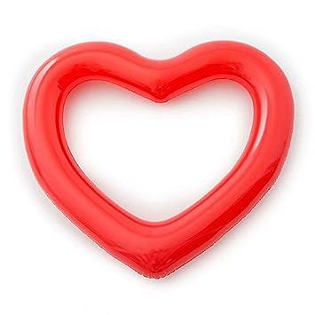 V. point hinchable flotador amor forma de corazón agua diversión playa natación fiesta en la