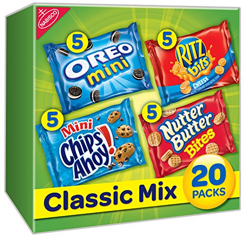 Nabisco Classic Mix Cookies & Crackers Variety Snack Packs, 20 Count Box, 20 Ounce
