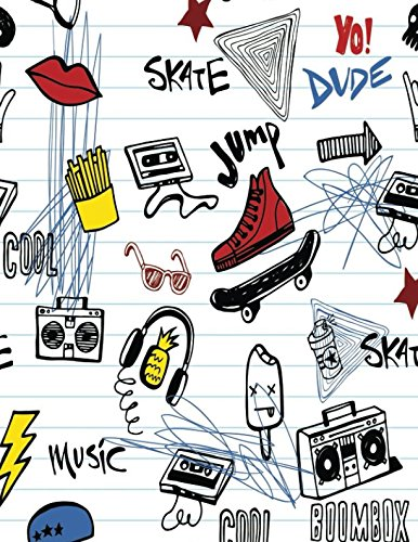 Skate Jump: BoomBox Lined Exercise Journal with 150