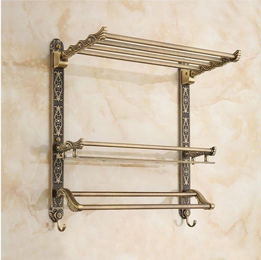 cdbl-Porte-bagages Étagères de salle de bain - porte-serviettes en cuivre de style européen - porte-serviettes de