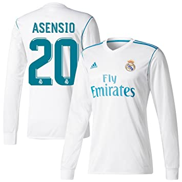 6e1b4b20eb9 Real Madrid Home L S Asensio No20 Shirt 2017 2018 (Official Player Printing)