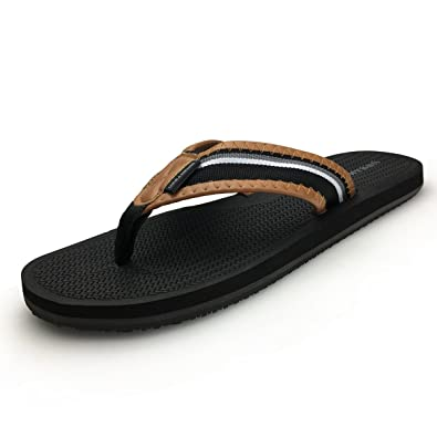 Flip Flops Trend Mens Flip-flops Summer Soft Pu Leather Sandals 2019 Men Slippers Feet Non-slip Thick Bottom Flat With Beach Shoes