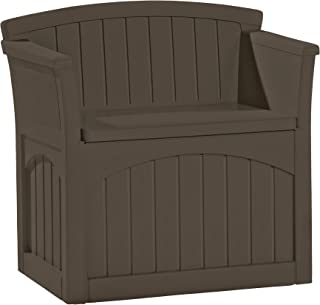 product image for Suncast 31 Gallon Resin Outdoor Patio Bench Storage Box, Java