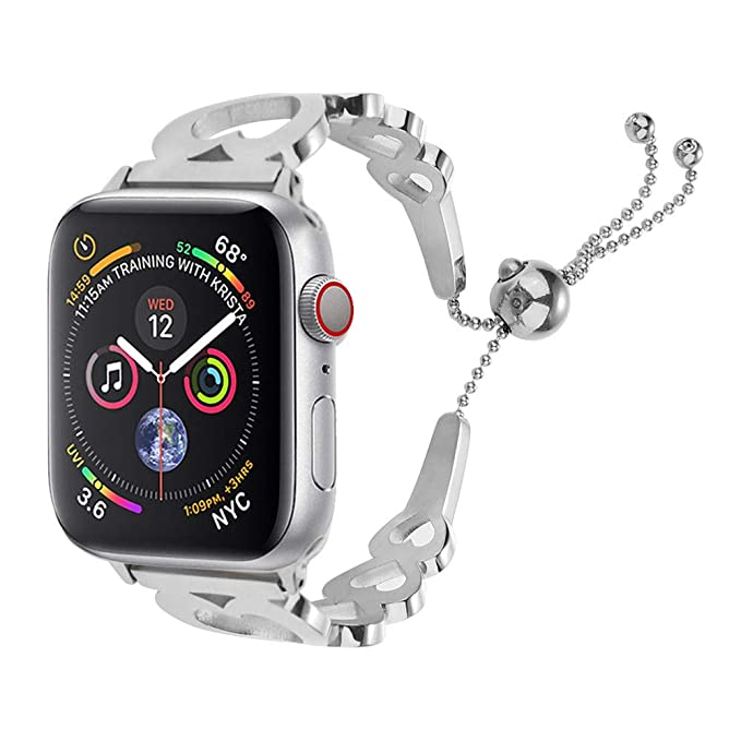 Correa Metalica Reloj para Mujer de Pulsera El Amor de Reemplazo Bandas Elegante Cadena de Acero Inoxidable Wristbands Inteligente Strap Serie 4 40mm: ...