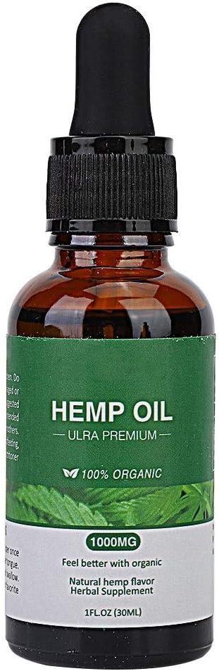 Cáñamo-semilla de aceite esencial - el cáñamo comestible de semilla de aceite esencial alivio del dolor de aceite mejora del sueño (tamaño : 30ml/1000mg)