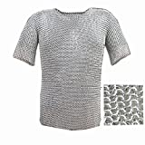 Queen Brass Xmas Medieval Chain Mail Armor Long Shirt
