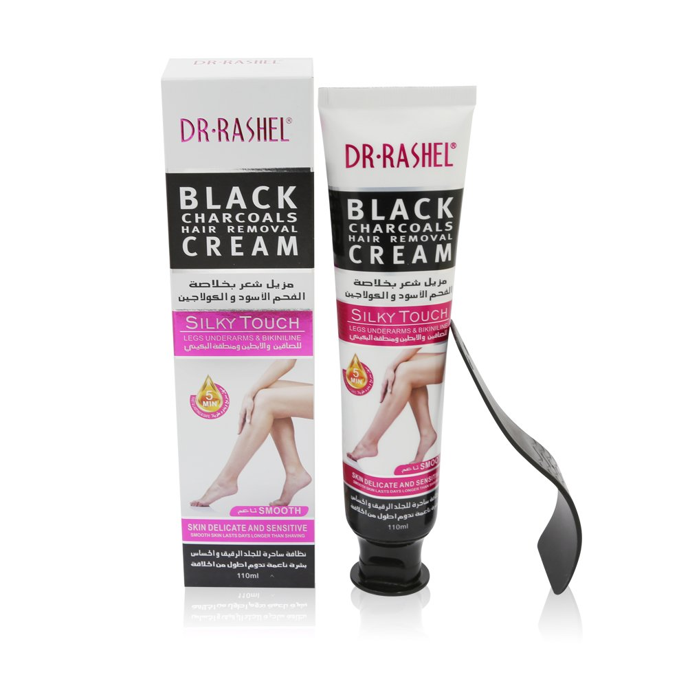Dr Rashel Black Charcoals Hair Removal Cream Silky Touch Depilatory Cream For Legs Underarms Bikini Line 110 Ml Buy Online In Barbados Dr Rashel Products In Barbados See Prices Reviews And