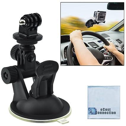 Gopro Dash Cam >> Car Windshield Dashcam Mount For Gopro Hero1 Hero2 Hero3 Hero3 And Hero4 Cameras W Suction Cup Ecost Microfiber Cloth