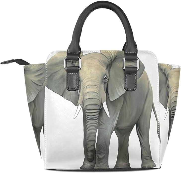 Women Large Tote Top Handle Shoulder Bags Personalized Elephant Ladies Handbag