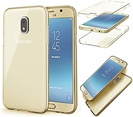 QianYang Funda Samsung Galaxy J3 2017 Transparente Silicona Fundas ...