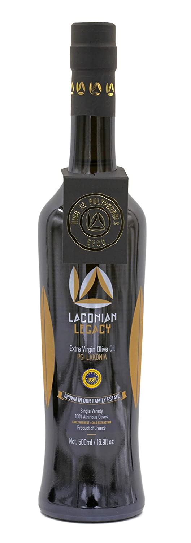 Laconian Legacy Extra Virgin Olive Oil , New Harvest, Athinolia , High Phenolic , Gold Medal
