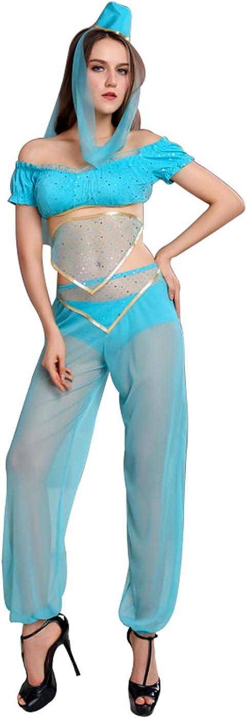 VOVONI LTD Disfraz de Genio para Adulto, Disfraz Sexy de Bailarina ...