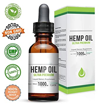 Natural Full Spectrum Hemp Oil for Pain Anxiety Relief Skin Hair and  Sleep-1000mg 30ml- Pure Organic