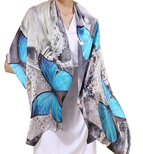 Helan Mujeres Seda natural real 175 X 52 cm Las bufandas largas