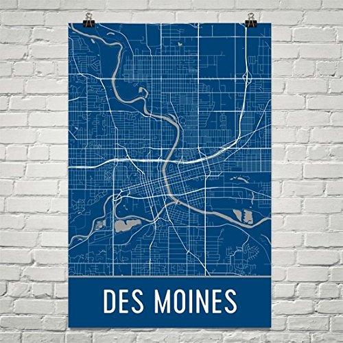 Des Moines Poster, Des Moines Art Print, Des Moines Wall Art, Des Moines Map,