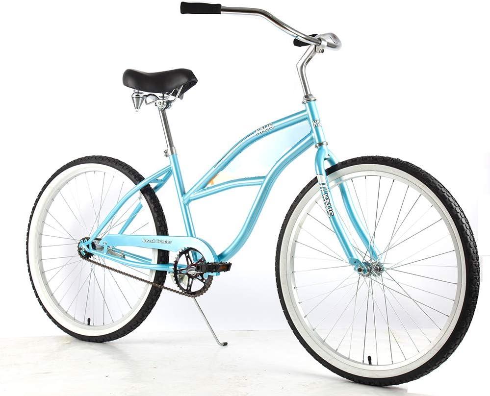 Knus Beach Cruiser Bicicleta Urbana de 26 Pulgadas para Hombre y ...