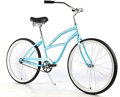 Knus Beach Cruiser Bike,26 inch Urban Single Speed Men Women's Cruiser Bicycle