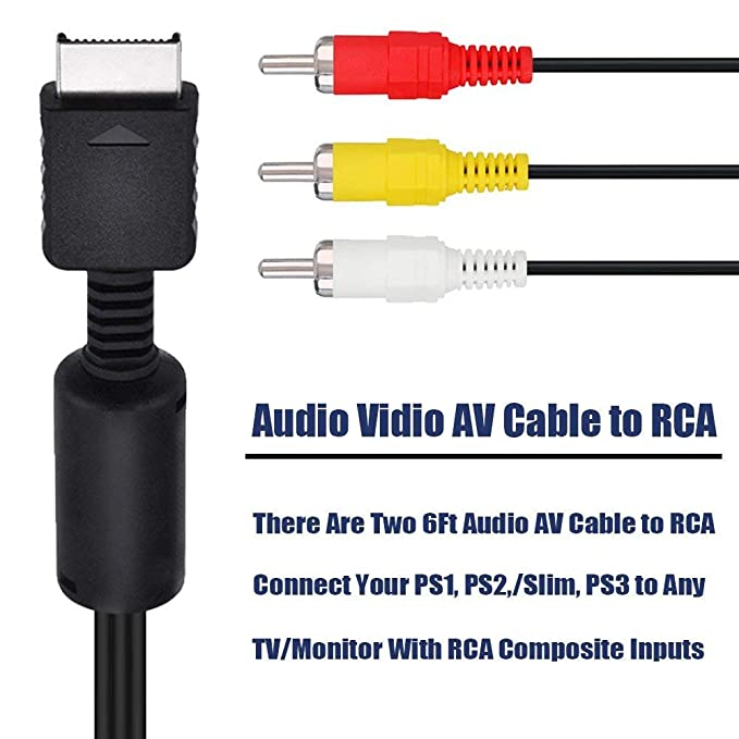 amazon com trenro av to rca cable compatible with playstation ps2 Keyboard Wiring-Diagram amazon com trenro av to rca cable compatible with playstation ps2 ps3 psx computers \u0026 accessories