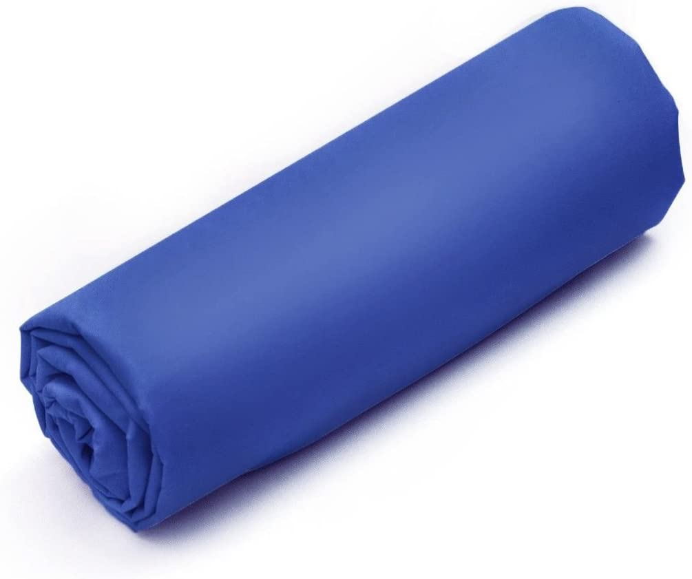 Tradition des Vosges Drap-Housse Uni Sanfor 100/% Coton irr/étr/écissable 140 x 190 cm Bonnet de 27 cm Bleu
