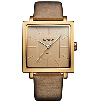 Dilwe Reloj de Pulsera Cuadrado, Reloj Diario Impermeable para Mujer con Vidrio orgánico Revestido con