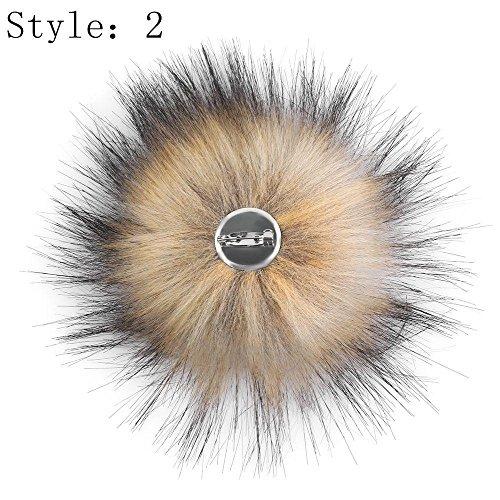 beBettform Faux Raccoon Fake Fur Hair Ball Fluffy Pompom Hat Clothing Bag Shoes Accessory from beBettform