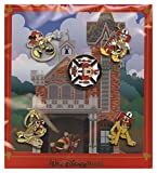 Disney Main Street Fire House Engine Co 71 Fireman Mickey 5 Piece Pin Set