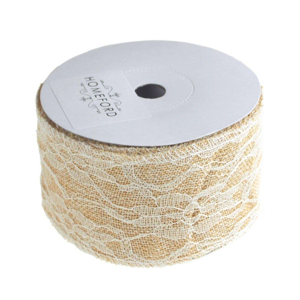 Homeford FCR000BLR2102VRY Ribbon, 2-1/2'', Ivory
