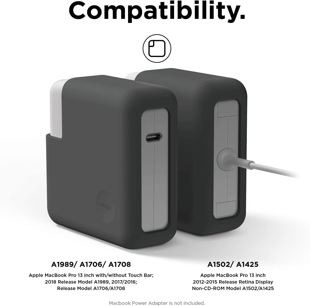 15 Touche Bar et Touch ID USB-C Thunderbolt 3 elago /Étui pour MacBook Pro Chargeur Adaptateur Compatible avec MacBook Pro 2019 16 Pouces - Blanc Classique A2141, A1990, A1707, A1398