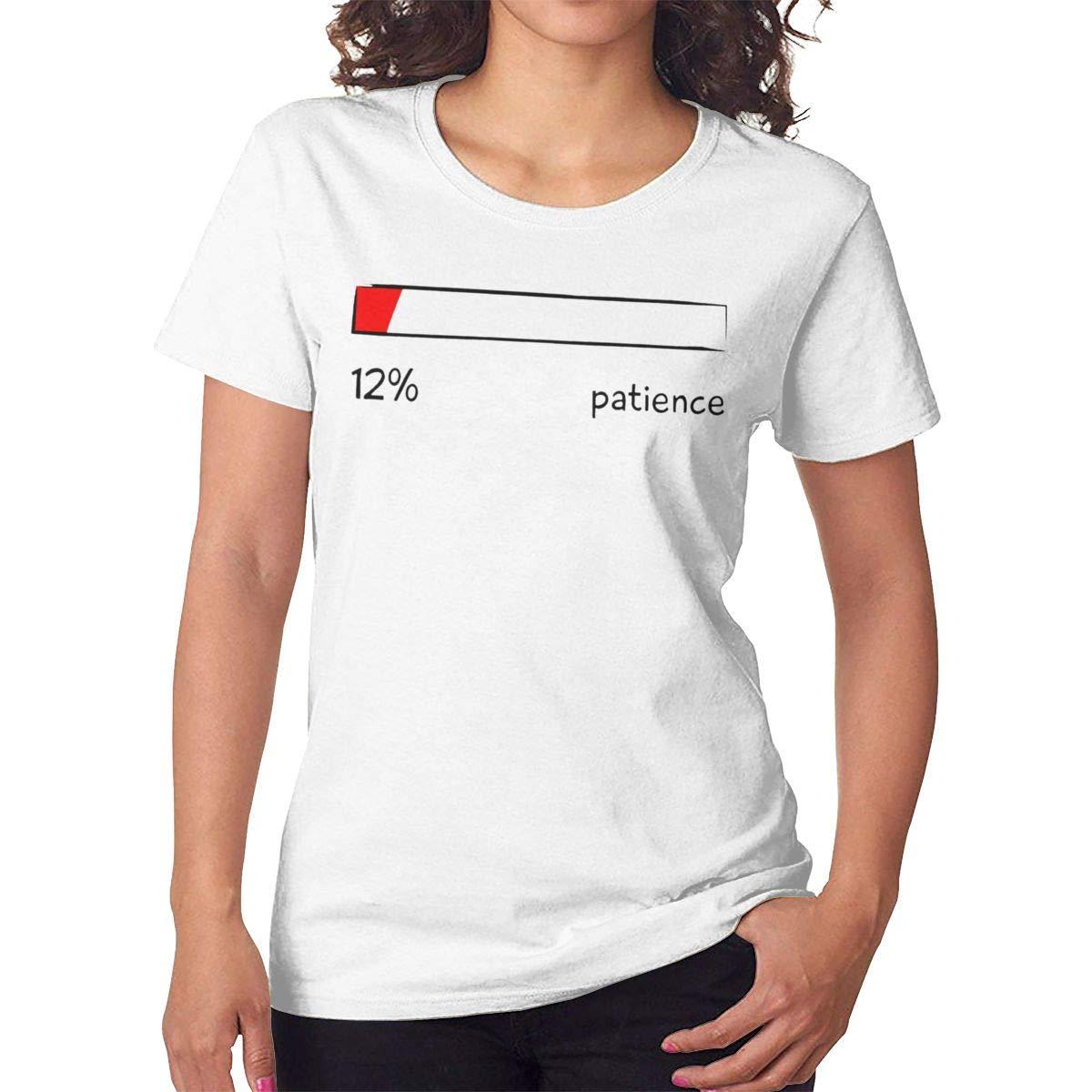 Maohongko Patience Percentage Level Short Sleeve Round Neck T Shirt