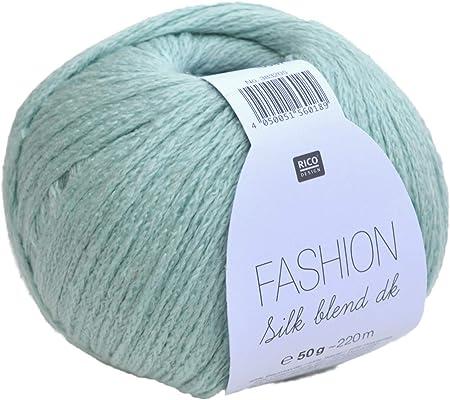 Rico Fashion Silk Blend dk Color 010 – Mint, elegante hilo de seda y algodón para tejer &: Amazon.es: Hogar