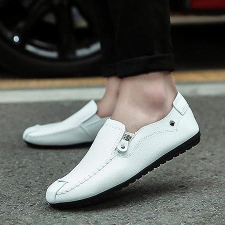 WWricotta LuckyGirls Hombre Zapatillas para Andar Casual Calzado de Planos Transpirables Zapatos Informales Bambas Zapatos de Cuero para Perezoso Náuticos ...