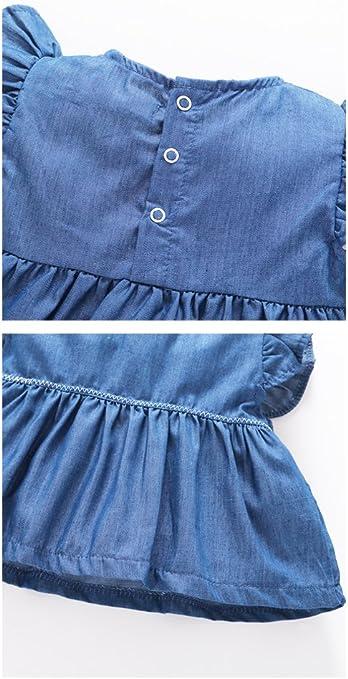 Pantaloncini 0-18 Mesi ARAUS Completini da Neonata Bimba Abiti Coordinati Manica Corta 2 Pezzi Magliette Ruffle di Jeans