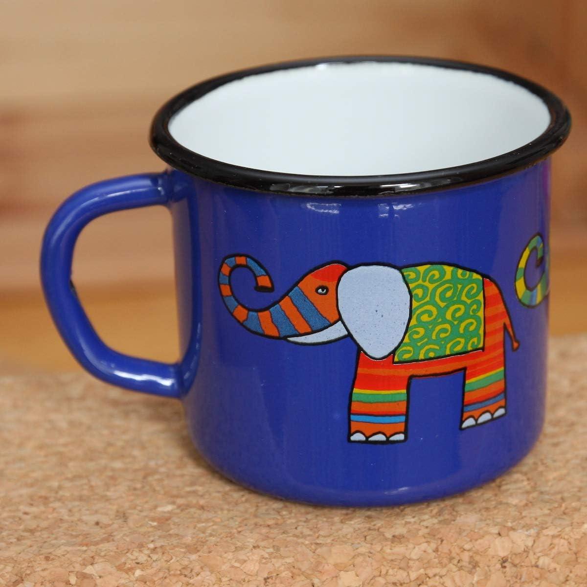 Robusta e inquebrantable Ligera 250 ml Smaltum Una Taza Turquesa Elefantee para ni/ños o Camping