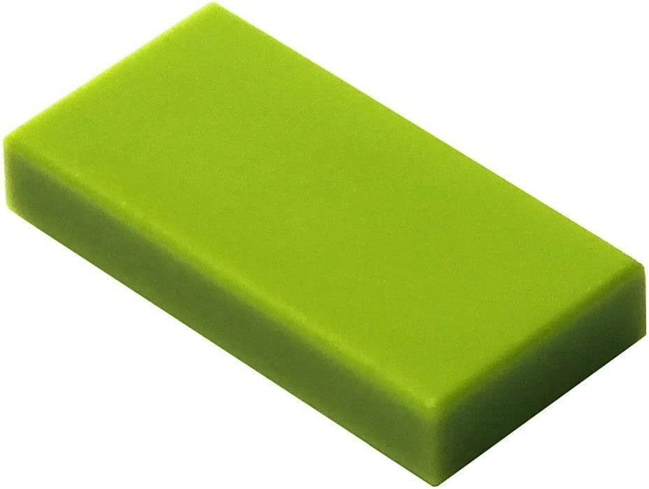 LEGO Parts and Pieces: Lime (Bright Yellowish Green) 1x2 Tile x100