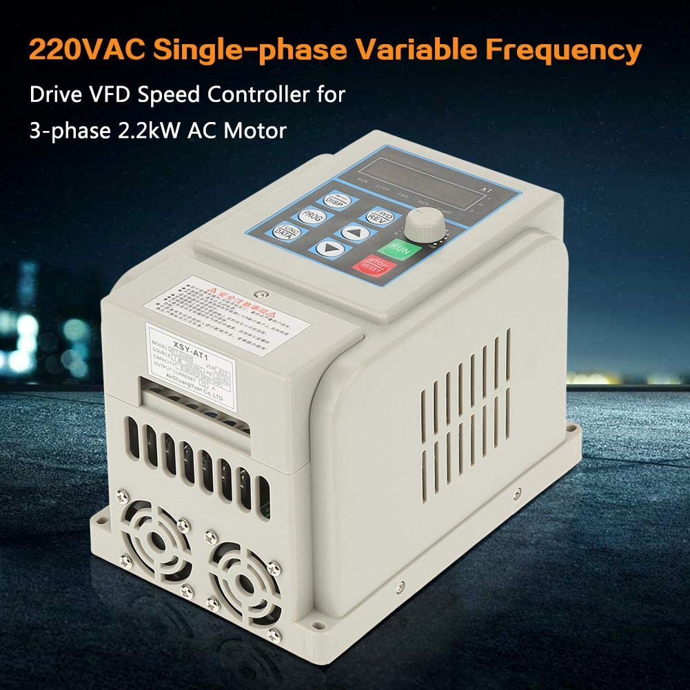 VFD 220V, Single-Phase Variable Frequency Drive,Low Noise Electromagnetic Interference,for 3-Phase 2.2KW AC Motor by Thincol (Image #2)