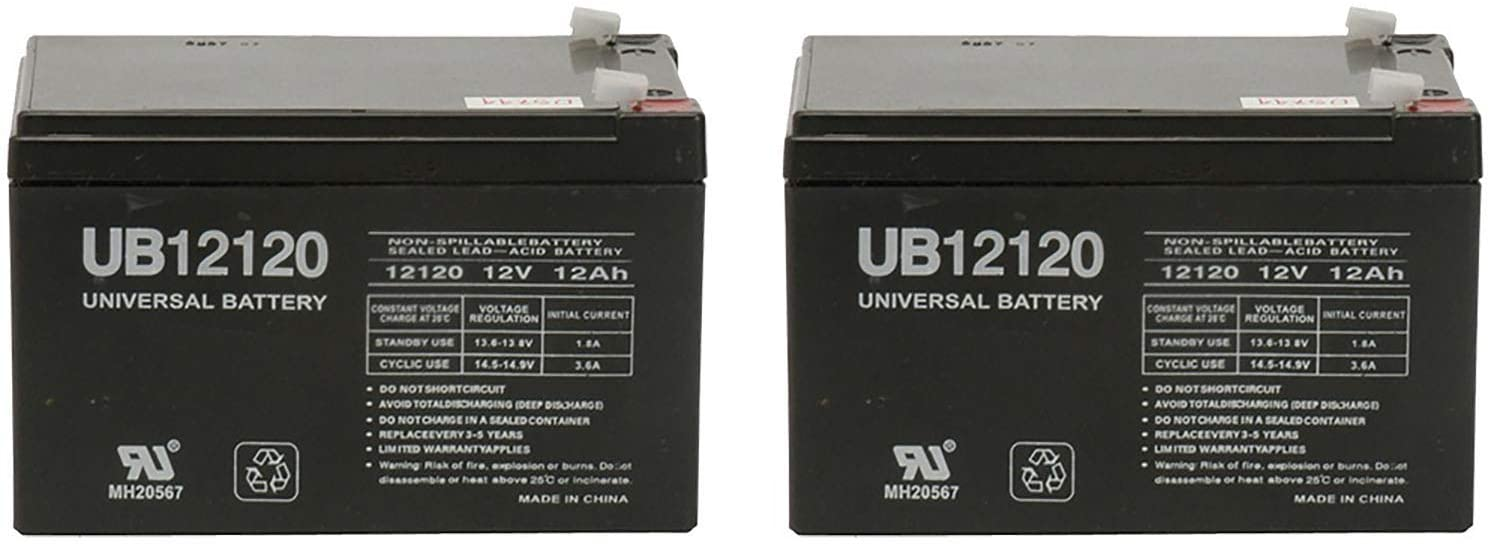 Universal Power Group 12V 12Ah F2 Battery BP1000-APC Back-UPS PRO 1100VA BP1100 EA - 2 Pack 61t8Ap9YSqL