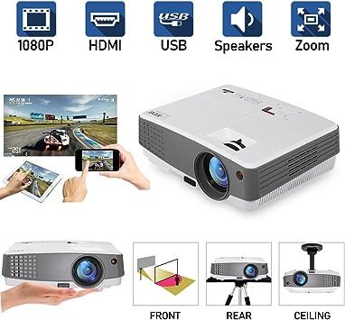 Proyector portátil LED 1080P Soporte Proyector HD Proyectores HDMI ...