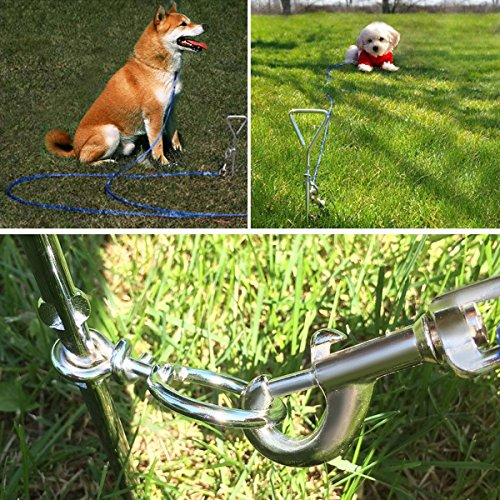 Dog Chain Tie Out Stake |Dog Tie Out Stake