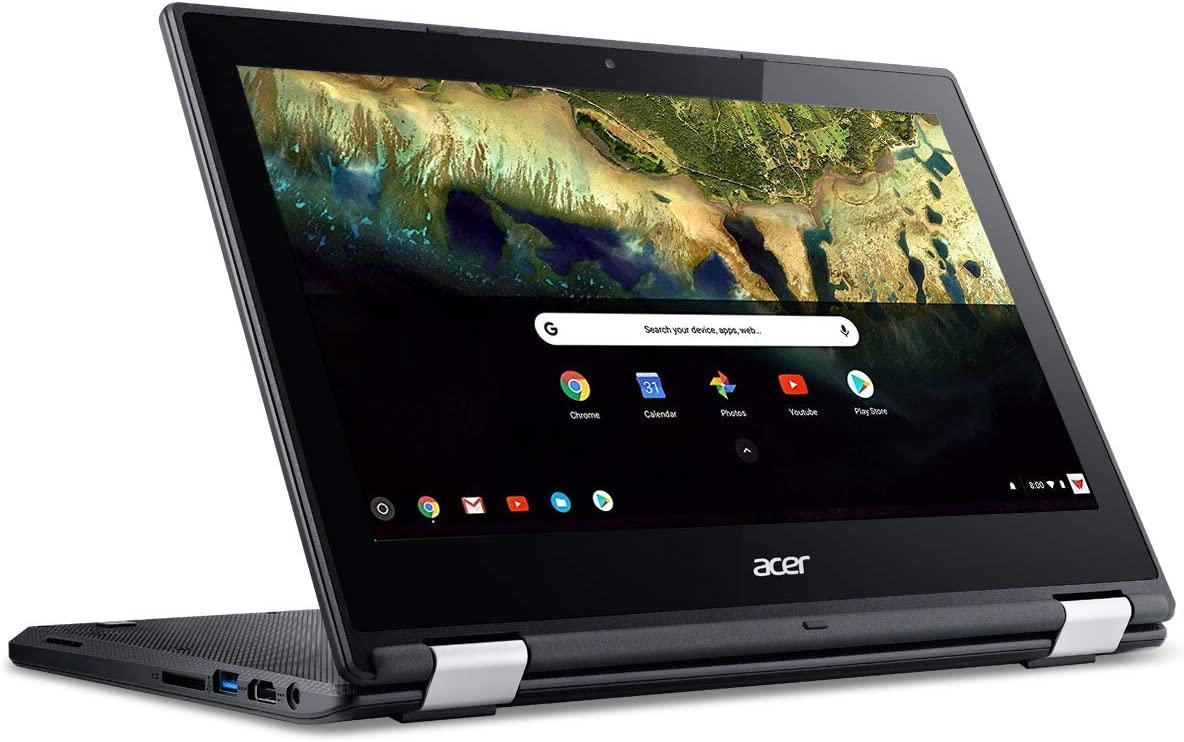 "Acer Chromebook R 11 Convertible Laptop, Celeron N3060, 11.6"" HD Touch, 4GB DDR3L, 32GB eMMC, C738T-C7KD (Renewed)"