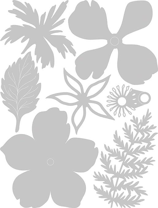 Multicolore Taglia unica Sizzix Die 7 Pack Set di Fustelle Thinlits 7 pz 663687 Corsage
