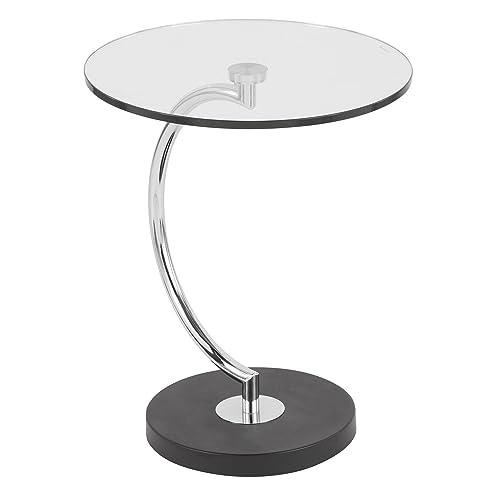 WOYBR Glass, Chrome, Marble C End Table