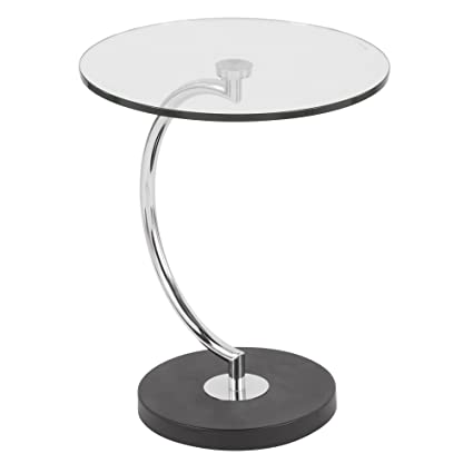 WOYBR TB C Glass, Chrome, Marble C End Table