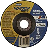 Norton NorZon Plus Right Cut Right Angle Grinder Reinforced Depressed Center Abrasive Cut-off Wheel, Type 27, Zirconia Alumina, 7/8'' Arbor, 5'' Diameter x 0.045'' Thickness  (Pack of 25)