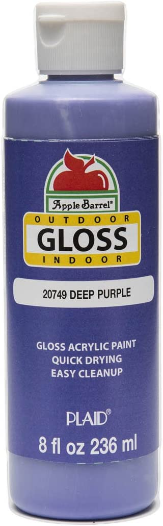 Apple Barrel Gloss Acrylic Paint in Assorted Colors (8 oz), Gloss Deep Purple