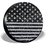 Louise Morrison cozipink Retro Distressed USA Flag Patriotic Spare Tire Cover Wheel Covers for Jeep Trailer RV SUV Truck Trav