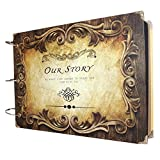 FOME Scrapbook Photo Album Anniversary Scrapbook DIY Photo Albums Vintage Style Recording Valentines Day Gifts Christmas Gift Inner Ring Our Story