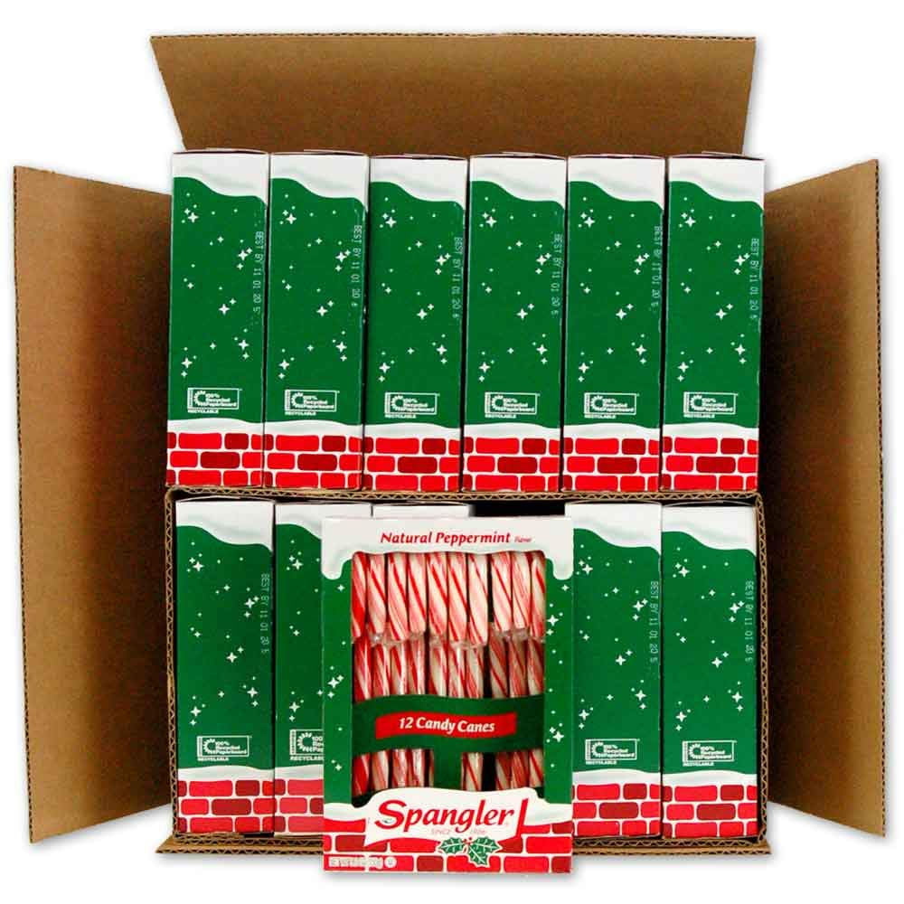 Spangler Peppermint Candy Canes 12-12 count boxes by Spangler