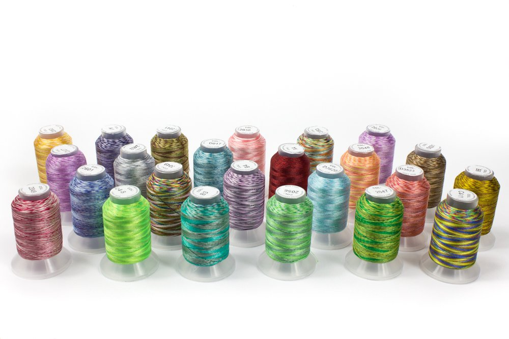 Embroidex 24 Spools Variegated Embroidery Machine Thread 4337016301